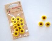 Sunflower Plastic Buttons - Set 12