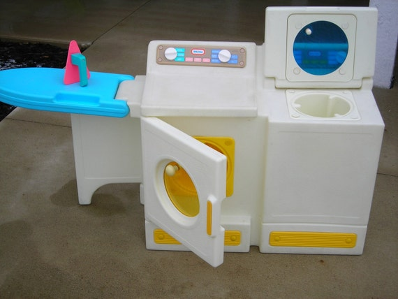 Vintage Little Tikes Washer And Dryer With Ironing Board Iron