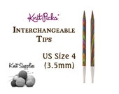 Options Interchangeable Harmony Wood Circular Knitting Needle Tips by Knit Picks - US Size 4 (3.5mm)