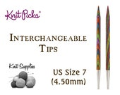 Options Interchangeable Harmony Wood Circular Knitting Needle Tips by Knit Picks - US 7 (4.50mm)