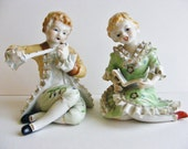 Vintage Porcelain Young Lady and Man