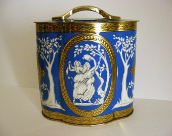 Vintage Grecian Goddess Tin made in Englad