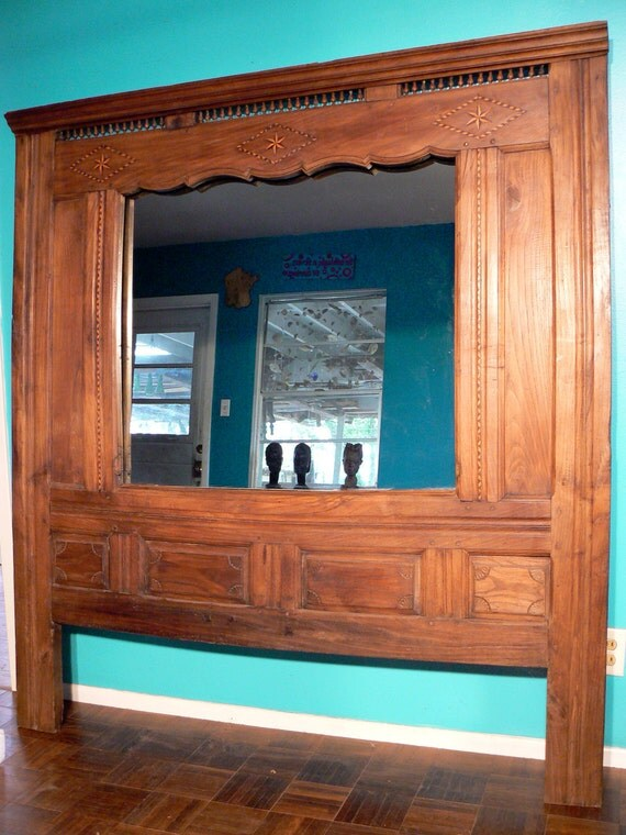 Antique French Mirrored Pannel - Circa 1850 - Chestnut