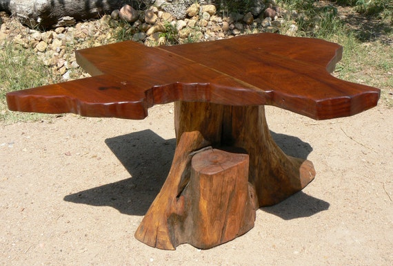 Texas Map Coffee Table - Reclaimed Mesquite Wood