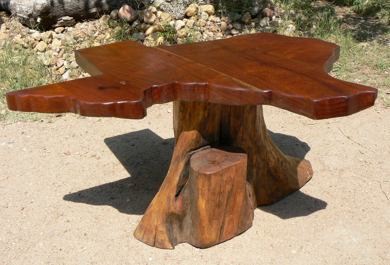 Texas Map Coffee Table Reclaimed Mesquite Wood
