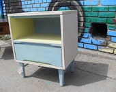 cute pastel nightstand with one drawer