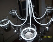 For those cool Spring nites candle light chandelier with prisms