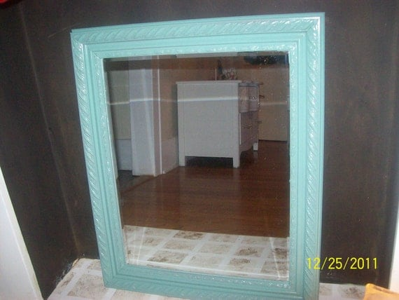 Reserve for  Renee  do not purchase.... Large 20x24 Aqua wall mirror