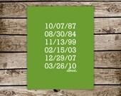 CUSTOM Save the Dates (8x10)