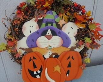 kitty kat wreath