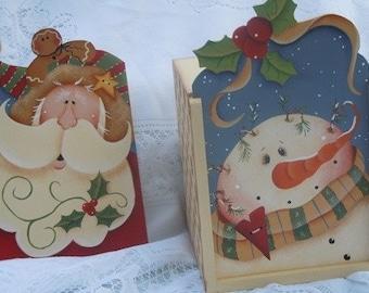 Winter tissue box set