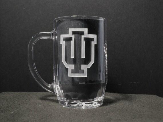 University of Indiana Gift, Beer Mug, Custom Etched