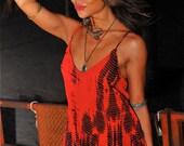 Wanderlust tie dye Maxi Dress RED