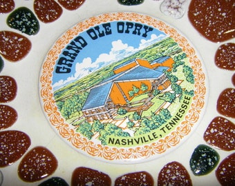 Vintage Grand Ole Opry Souvenir Plate from Nashville Tennessee