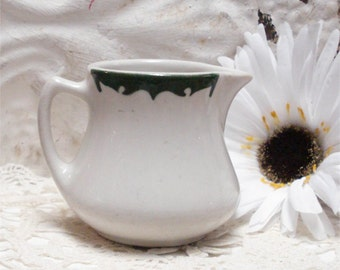 Cosmo White Forest Green Creamer Vintage