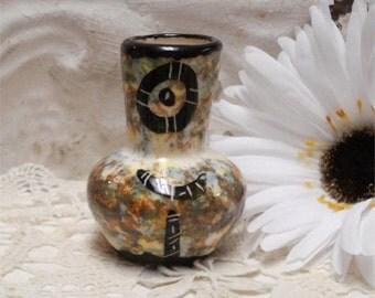 Small Spongeware Miniature Vase Souvenir Marked