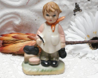 The Shoe Maker Boy Enesco Figurine Vintage