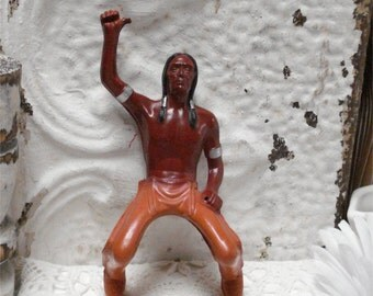 1940s Wells Red Ryder Indian Lamont Corp Little Beaver Native American Figure