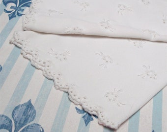 Ladies Gloves White Fancy Design Stretch EXC VTG Med