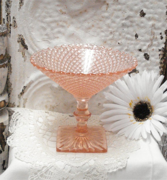 """5"""" Miss America COMPOTE Pink Depression Glass Exc"""