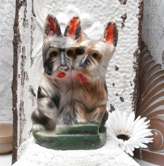 9x6 Scotty Dog Chalkware Carnival Prize Glitter