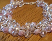 Pink & Crystal Beaded Bracelet