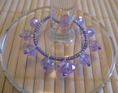 Mix N' Match Lavender Glass Wine Glass Ring