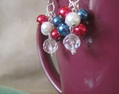 Red, White and Blue Fireworks Earrings