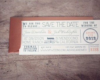 Digital Vintage Typography Save the Dates