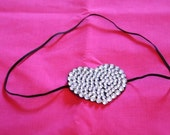 Heart shaped swarovski cystal rhinstone eye patch