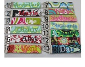 ONE Monogrammed Quilted Key Fob, personalized---Pick any from my shop