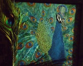 A Man Who's Not Afraid of Color - An Original Peacock Painting