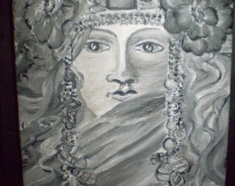 SALE  Art Nouveau Goddess Painting