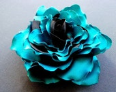Capri blue fabric brooch - accessory for clothes, hair or anywhere.