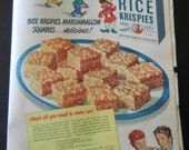Vintage Rice Krispies advertisement