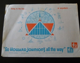 Vintage Howard Johnson's placemat