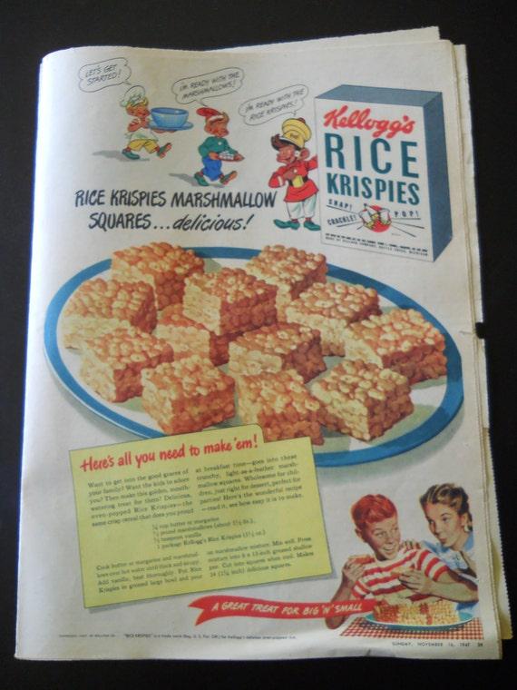 Vintage Rice Krispies advertisement