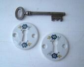vintage escutcheons mint condition porcelain from limoges, france