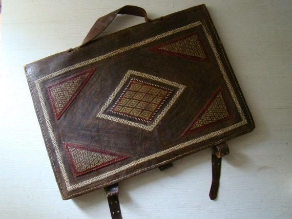 vintage leather satchel, leather briefcase