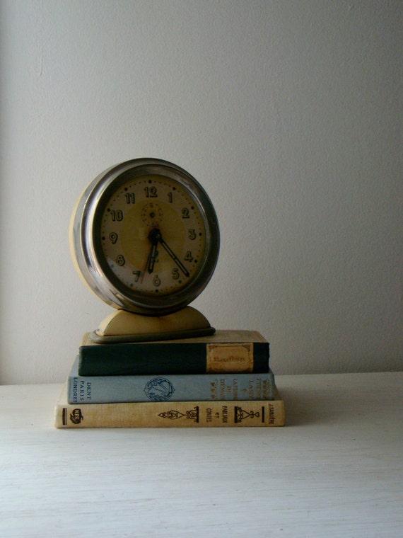 cream and chrome french alarm clock JAZ