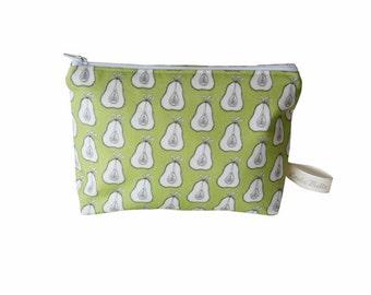 LESS than HALF PRICE Pear Wash Bag Loula Belle at Home print