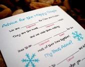 DIY Printable Wedding Mad Libs (or printing service optional) - Winter Snowflake Design