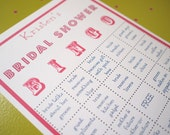 Bridal Shower Party BINGO Game - Customized, super fun party game