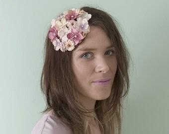 Country Garden Fascinator - Blush Pink