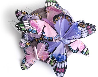 Monarch Butterfly Fascinator - Lilac