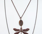 SALE-Opal Dragonfly Multi Layer Necklace