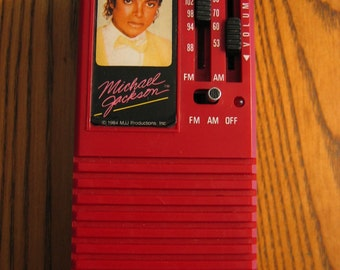 Incredible MICHAEL JACKSON Am/Fm 1984 Radio Exc Working Condition