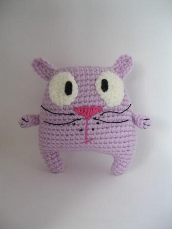 """RESERVED  for Melanie   -  Amigurumi Crochet Spring Lilac Kitten  """" Hunter """""""