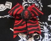 Red Zebra Skull and Crossbones