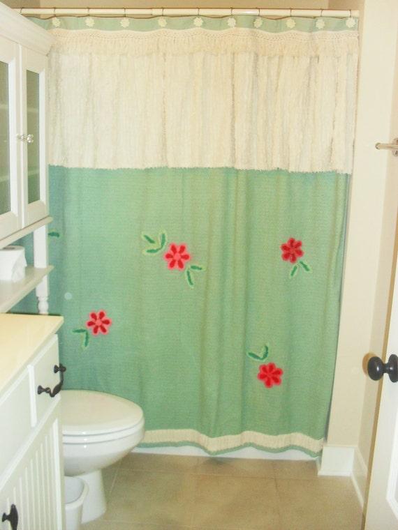 Chenille Shower Curtain